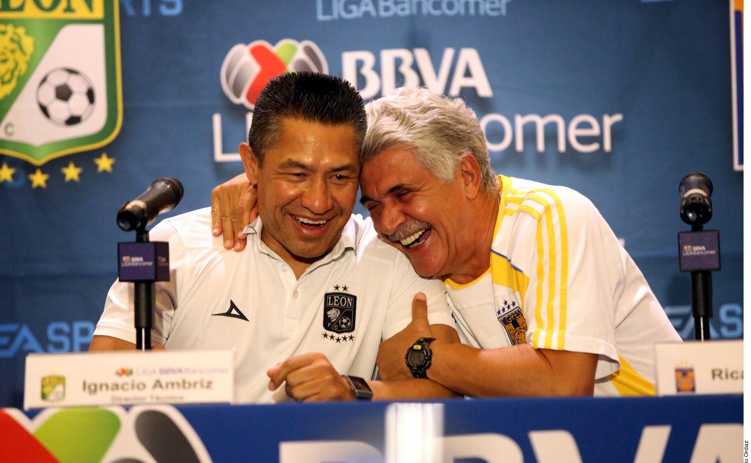 Los entrenadores intercambiaron elogios en la conferencia de prensa./ AGENCIA REFORMA