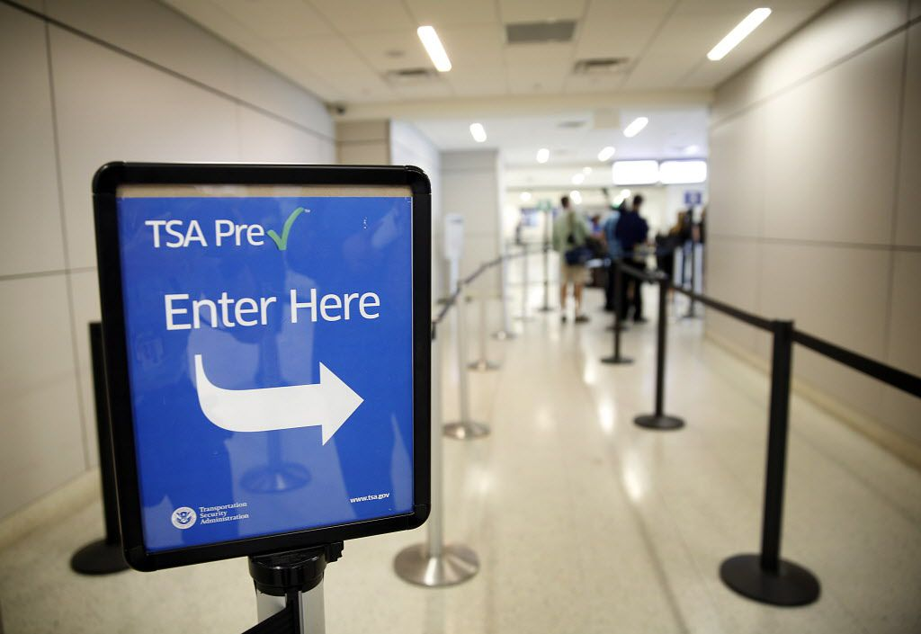 A TSA Pre-check lane in Terminal A of Dallas-Fort Worth International Airport. (2014 File Photo/Tom Fox)