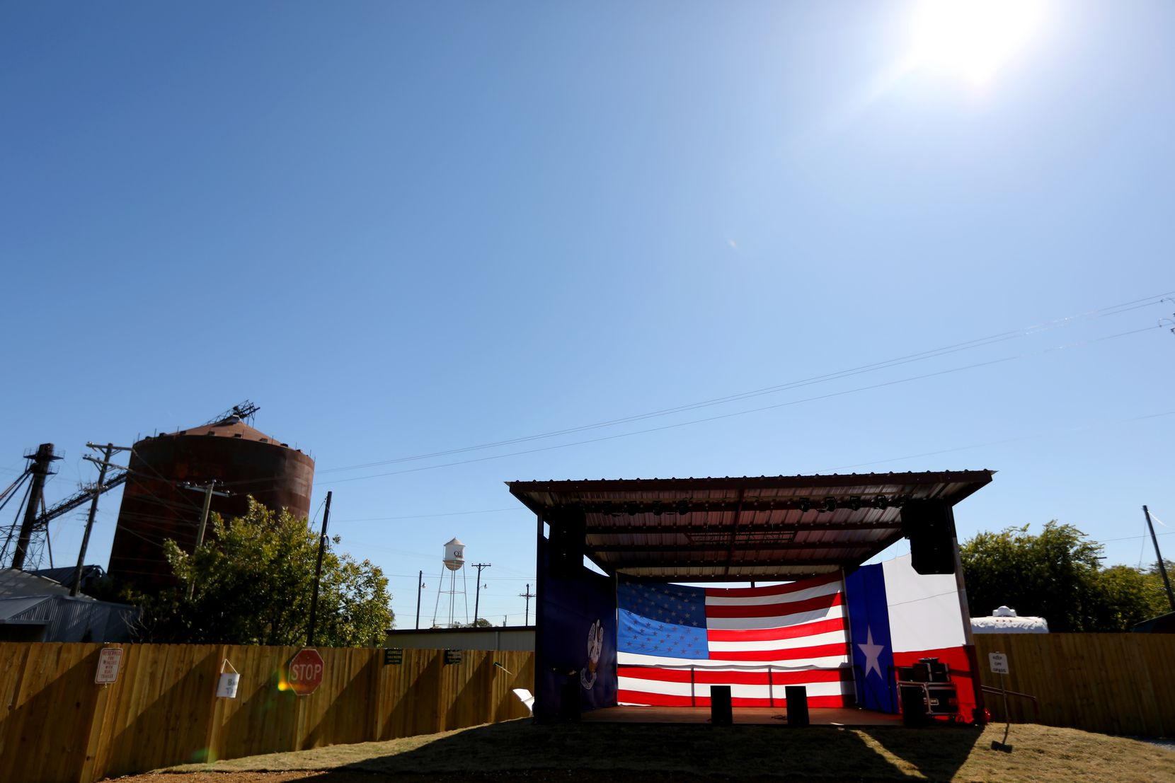 The outdoor stage at Bongo Beaux's Bourre Palace & Cajun Kitchen in Celina will host live music.
