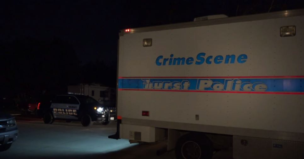 Hurst police vehicles were at the scene of a shooting in the 400 block of Michael Boulevard Wednesday night.