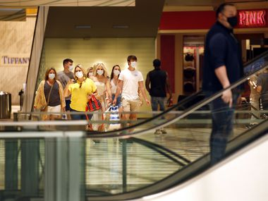 A group of young shoppers from Colorado shopped at the Galleria Dallas on June 5.