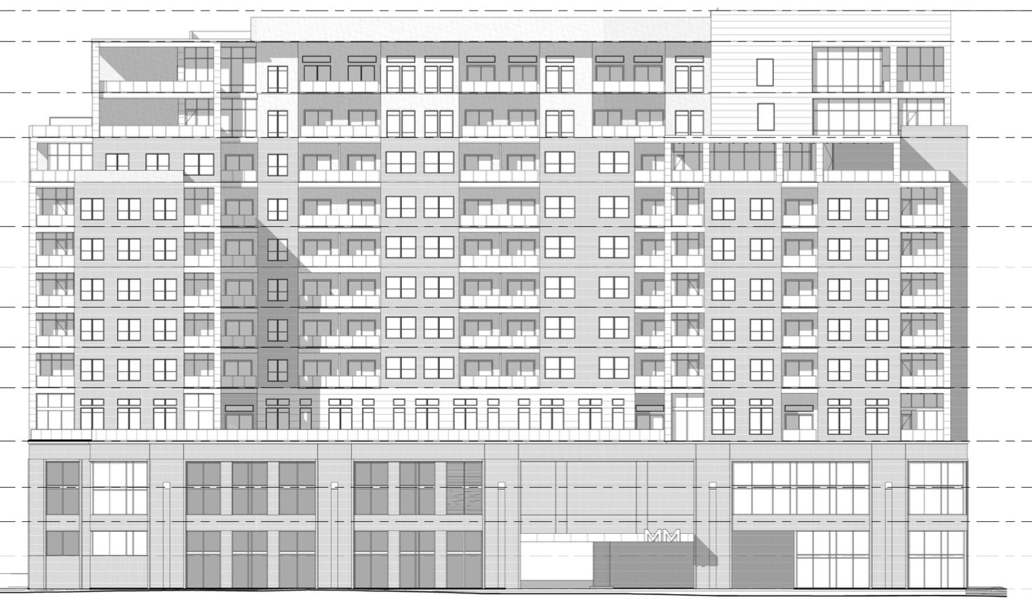 Kairoi Residential's planned Maple Avenue residential building will have 12 floors.