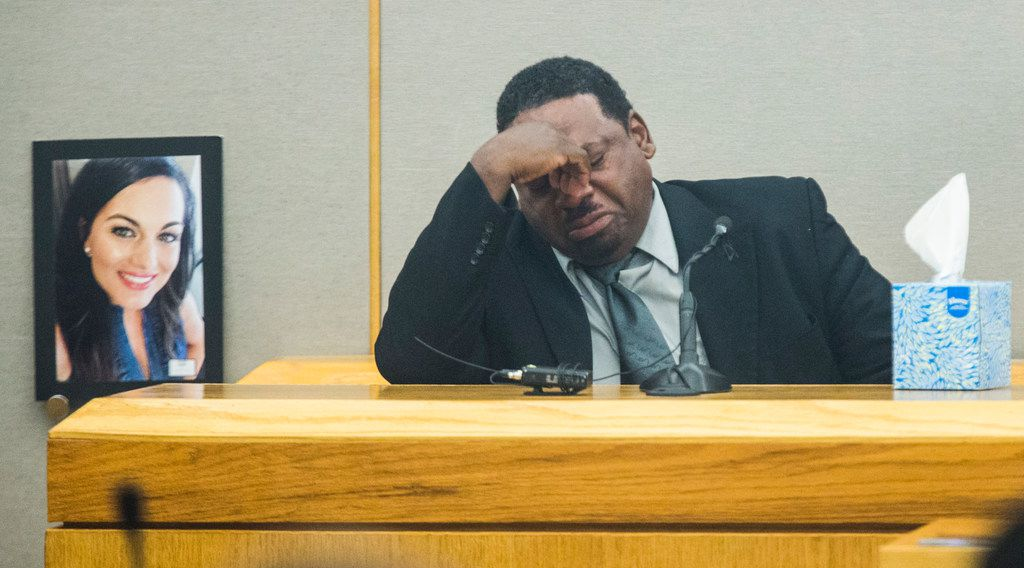 Kim Love, father of Kristopher Love, testifies during the punishment phase of a capital murder trial for Kristopher Love on Tuesday, October 30, 2018 at the Frank Crowley Courts Building in Dallas. Love was convicted in the 2015 murder of pediatric dentist Kendra Hatcher. He could face the death penalty. (Ashley Landis/The Dallas Morning News)
