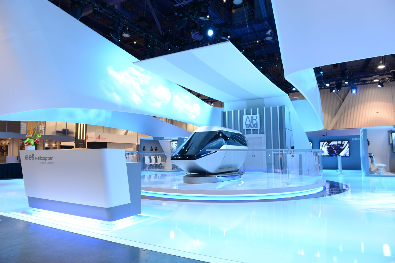 Bell Helicopter made its first appearance at CES, a popular technology show in Las Vegas, to show off the design of its air taxi.