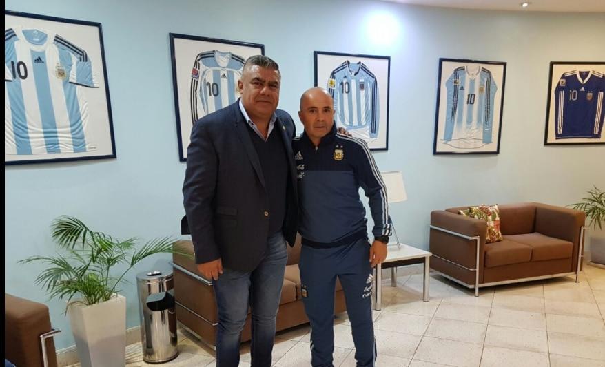 Jorge Sampaoli asumió el jueves como DT de Argentina. Foto Twitter de la selección