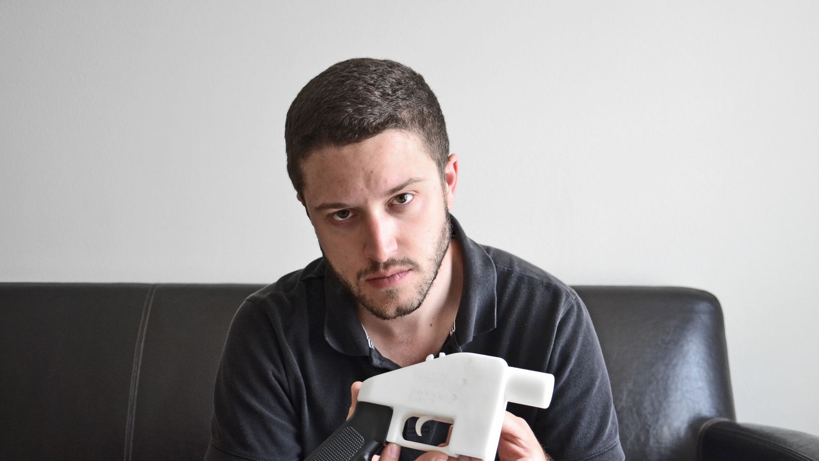 Cody Wilson with a 3-D printed gun