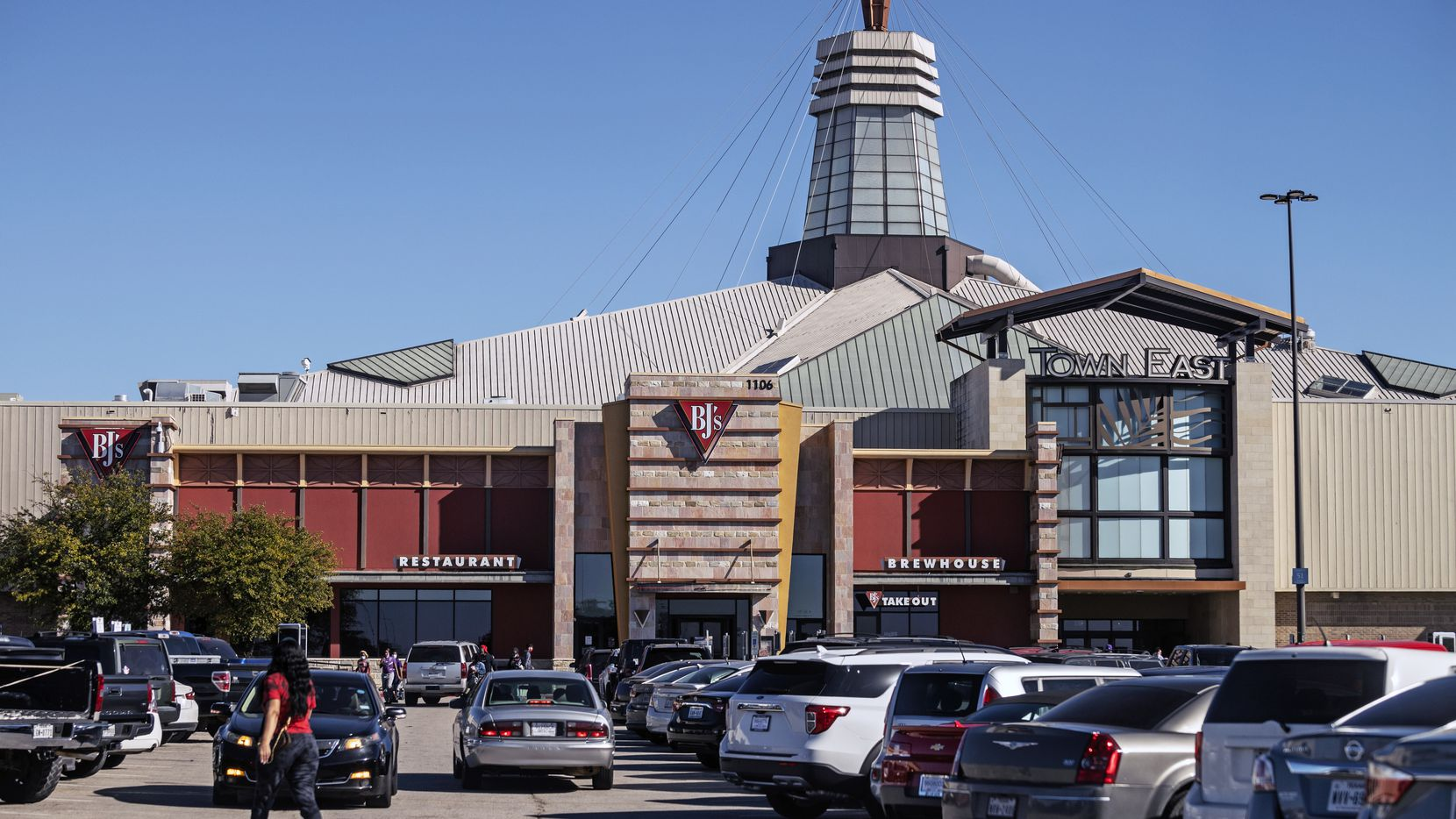 The main entrance to Town East Mall in Mesquite near the BJ'S restaurant and brewhouse the day after Christmas.