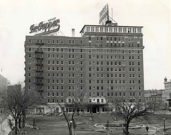 This image of the Hotel Jefferson at Ferris Plaza was taken Nov. 11, 1953.