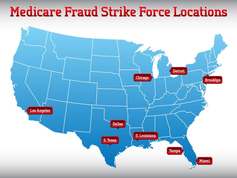 Texas is the site of two federal fraud Strike Force operations.
