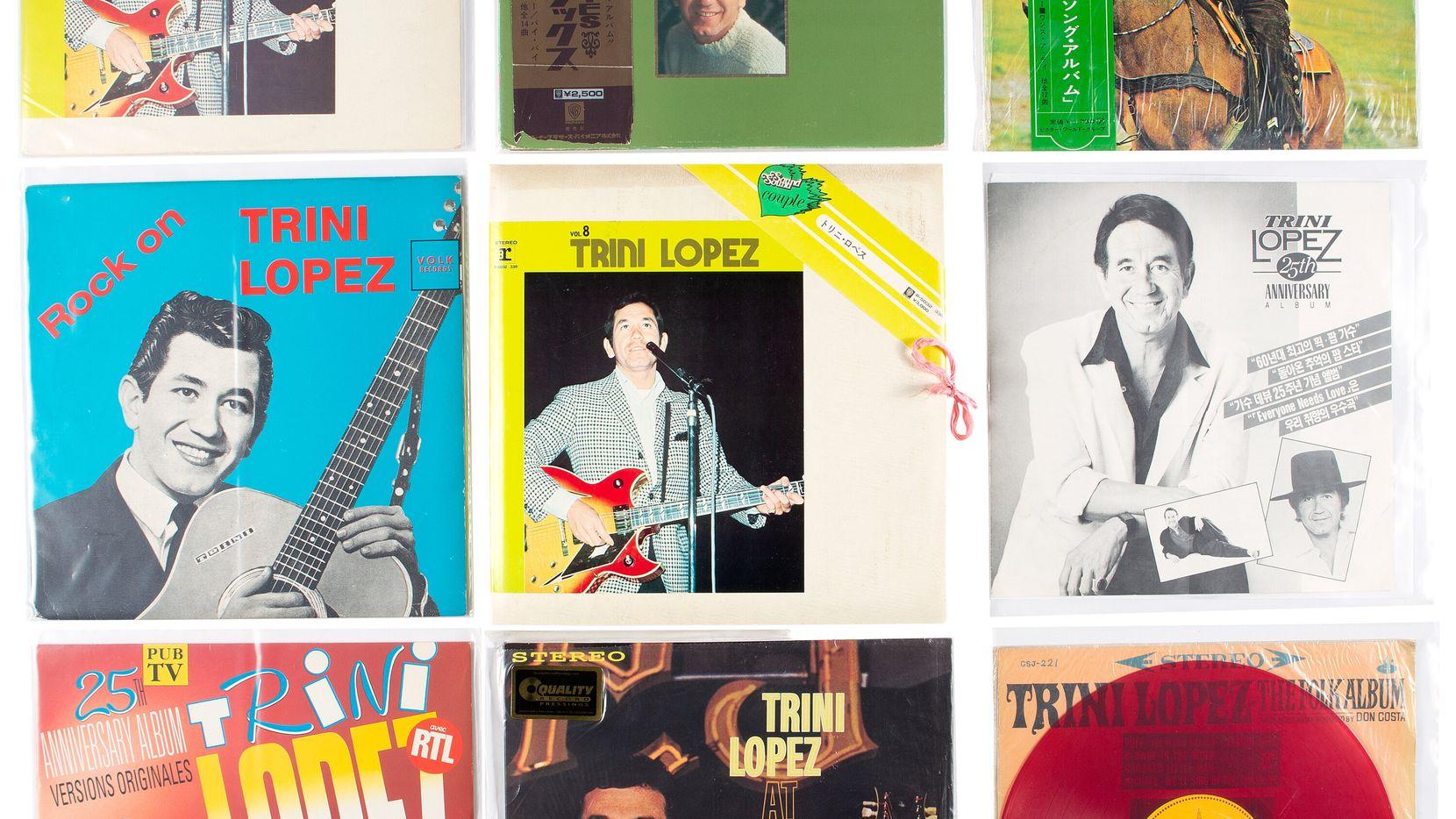 Los acetatos originales de Trini López son parte de una subasta de sus recuerdos. López, un músico legendario, falleció en agosto pasado.