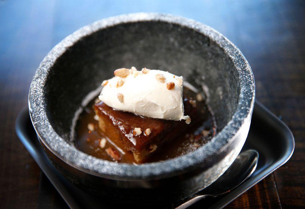 Creamy Date Dessert at Tortaco in Dallas, Thursday, Nov. 17, 2016. (Jae S. Lee/The Dallas Morning News)