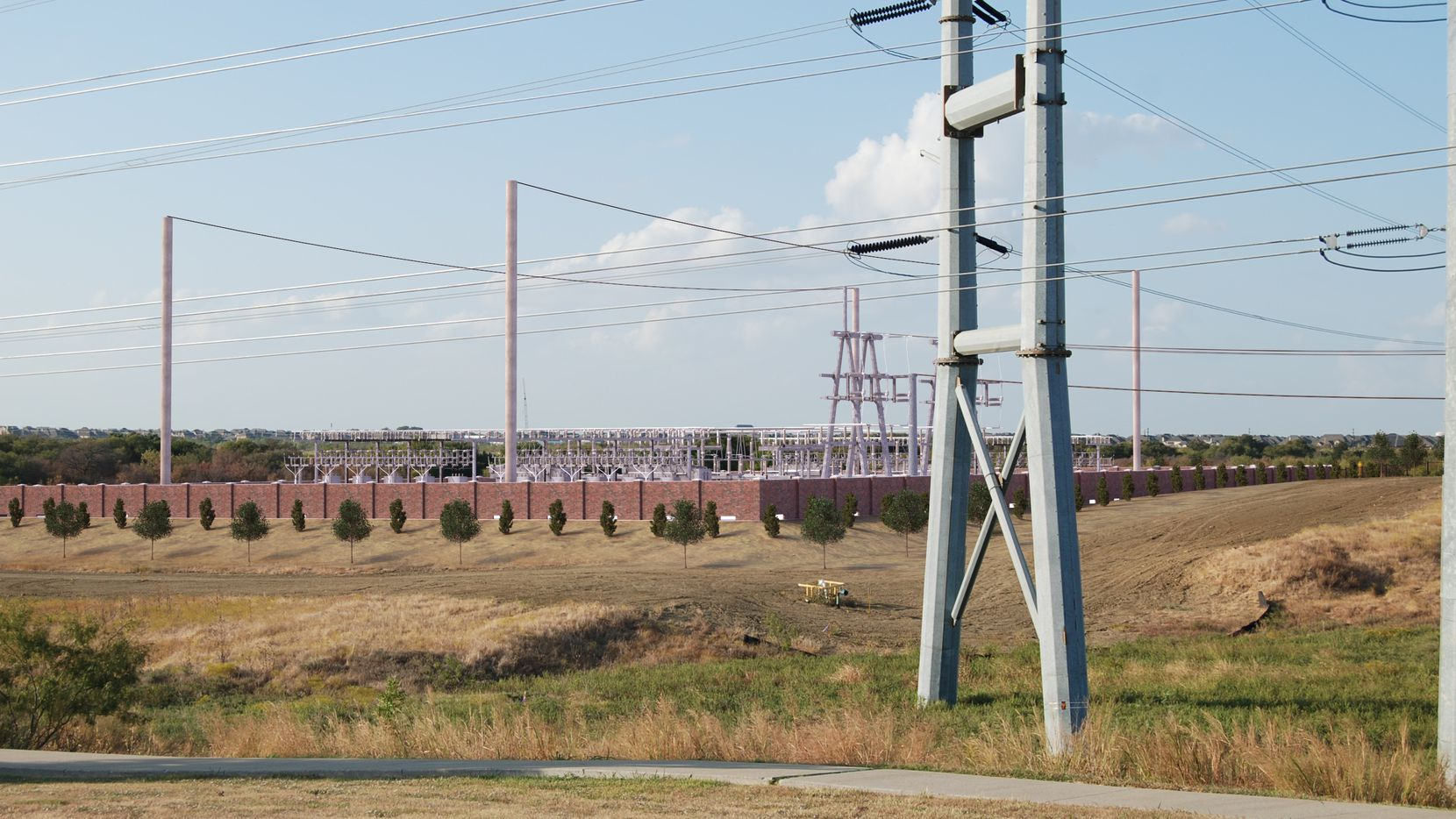 This rendering shows what the Oncor substation would look like on Legacy Drive.