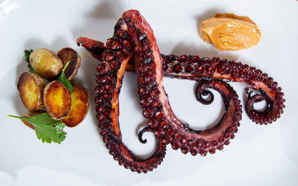 Octopus with Pimenton Aioli and potatoes at Macellaio in the Bishop Arts district in Dallas.
