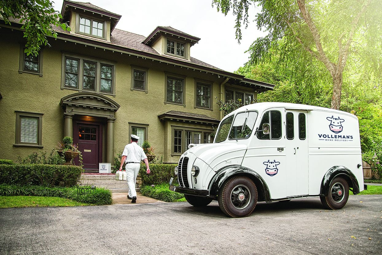 Volleman's Home Delivery is coming to D-FW, with milk and more delivered by a milkman.