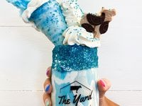 The Yard Milkshake Bar will sell the Texas Twister shake at its new store in The Colony. It's cookies and cream ice cream with blue sugar 'sand' and marshmallow drizzle. On top is a sugar cone filled with whipped cream, a cloud of cotton candy, and a cow made of chocolate.