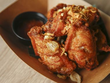 Peek Gai Tod, fried chicken wings, are photographed on Wednesday, Nov. 13, 2019 at Ka-Tip Thai Street Food in Dallas. (Ryan Michalesko/The Dallas Morning News)