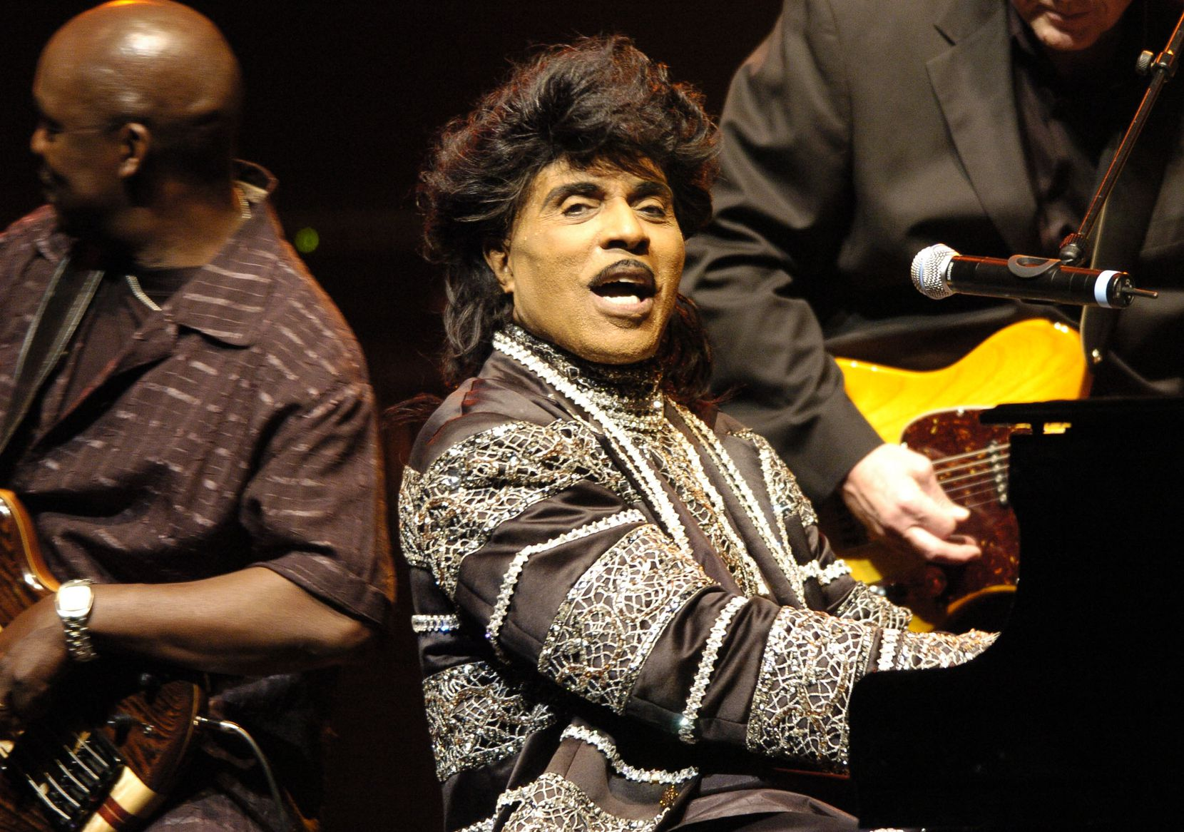 Little Richard performs in 2005 on the stage of the Olympia Concert Hall in Paris.