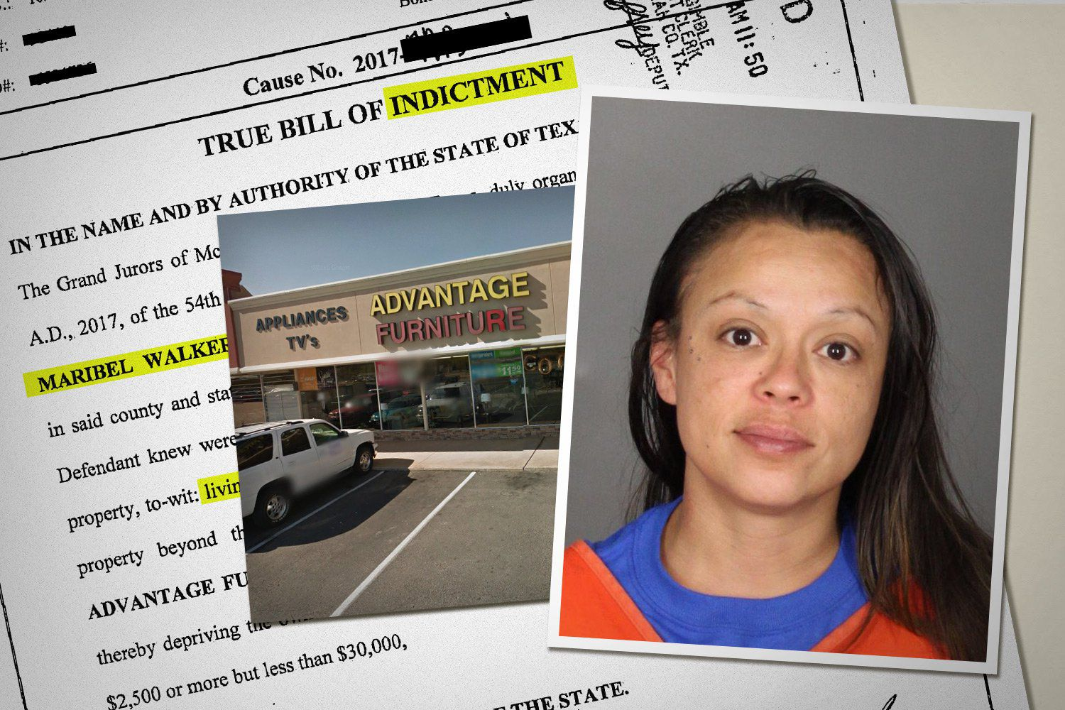 Maribel Walker rented bedroom and living room furniture in April 2015. When she forgot to make payments and failed to return the furniture for more than a year, she was arrested, jailed and now faces felony prosecution.
