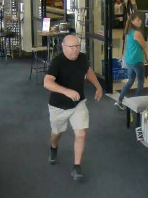 McKinney police are looking for this man in connection with an incident at a Dallas Hobby Lobby store.
