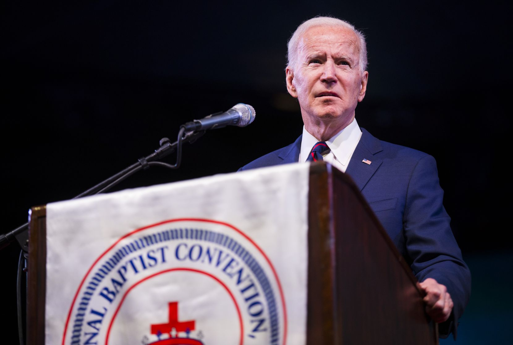 Former Vice President and Presidential Candidate Joe Biden speaks at the National Baptist Convention, USA, Inc. on Wednesday, January 15, 2020 at the Arlington Convention Center in Arlington, Texas. (Ashley Landis/The Dallas Morning News)