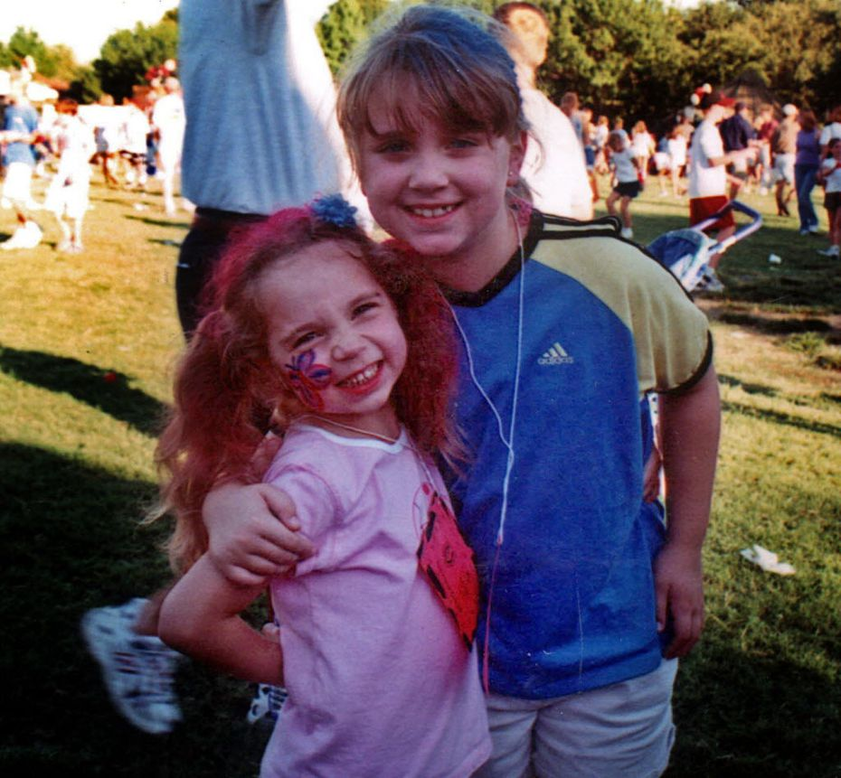 Liberty (left), 6,  and Faith Battaglia, 9, were killed in their father's Deep Ellum loft during a weekly visit in 2001.