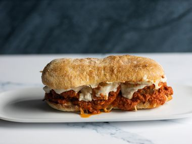 Meatball Kitchen offers meatball subs and other dishes for delivery.