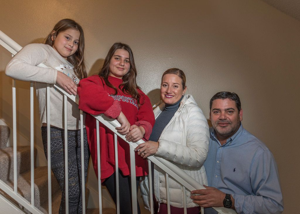 Angel Perez, with his wife Lina Dib and daughters Alina (left) and Camila, moved from Puerto Rico to Richardson after the hurricane.