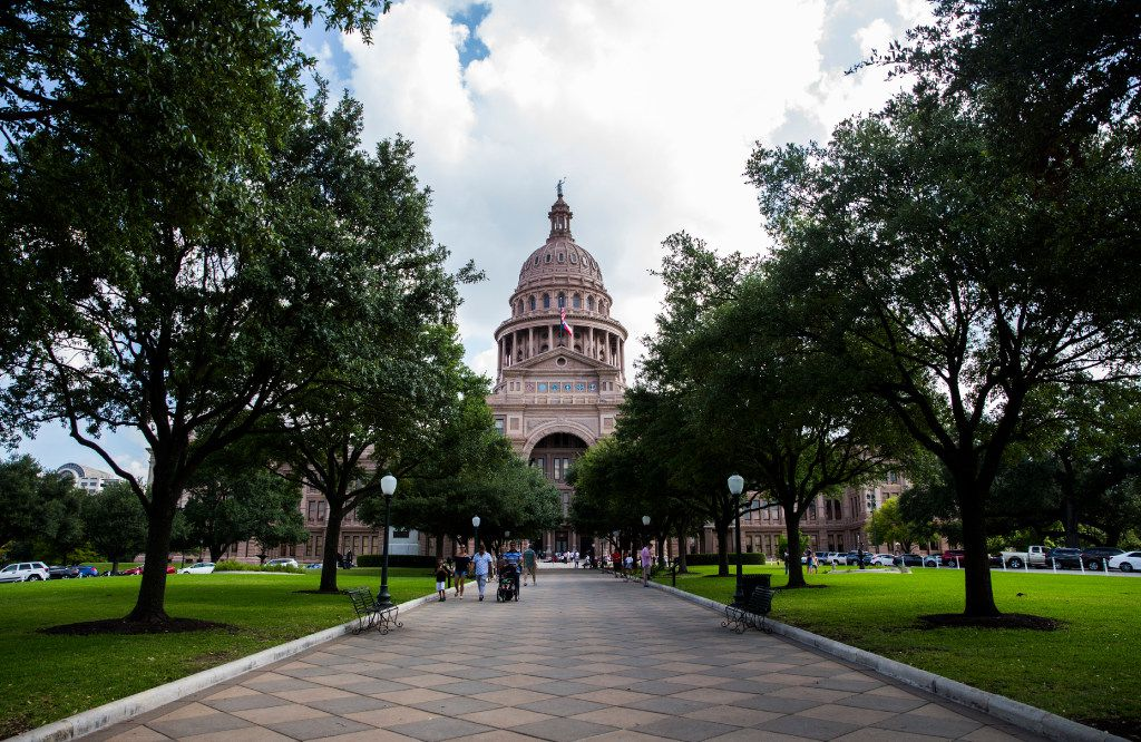 The Texas state capitol on Monday, July 17, 2017 in Austin, Texas. (Ashley Landis/The Dallas Morning News)