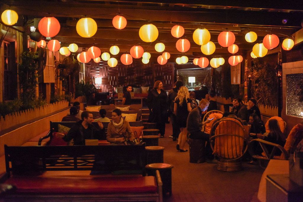 The patio at Pilikia, a tiki bar on Ross Ave., open in the former Three Sheets location.