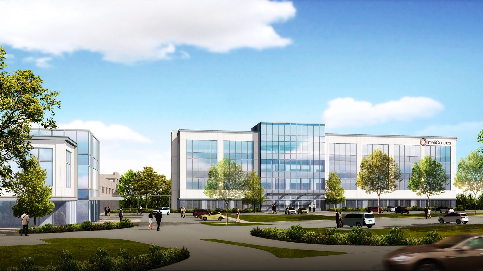 IntelliCentrics is the lead tenant in the new Flower Mound office park.