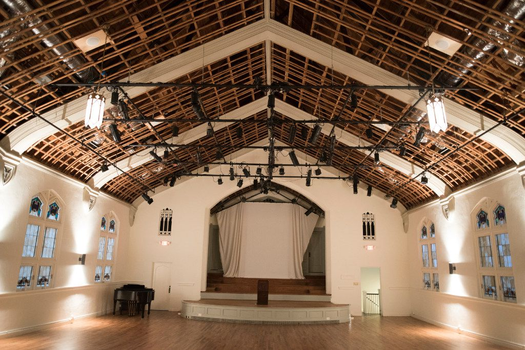 Arts Mission Oak Cliff occupies the space of a former church. The theater can host small- to mid-size local shows for a variety of troupes.