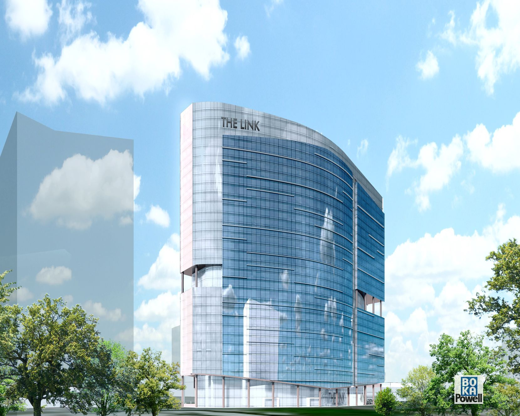 The Link at Uptown office tower is planned for a site on Akard Street next to the new Union development.