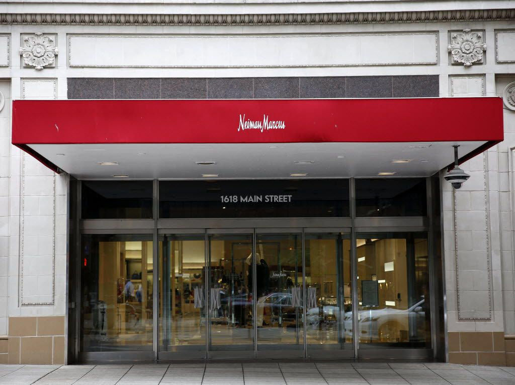 The main street entrance of Neiman Marcus in downtown Dallas on April 12, 2016. (Rose Baca/The Dallas Morning News)