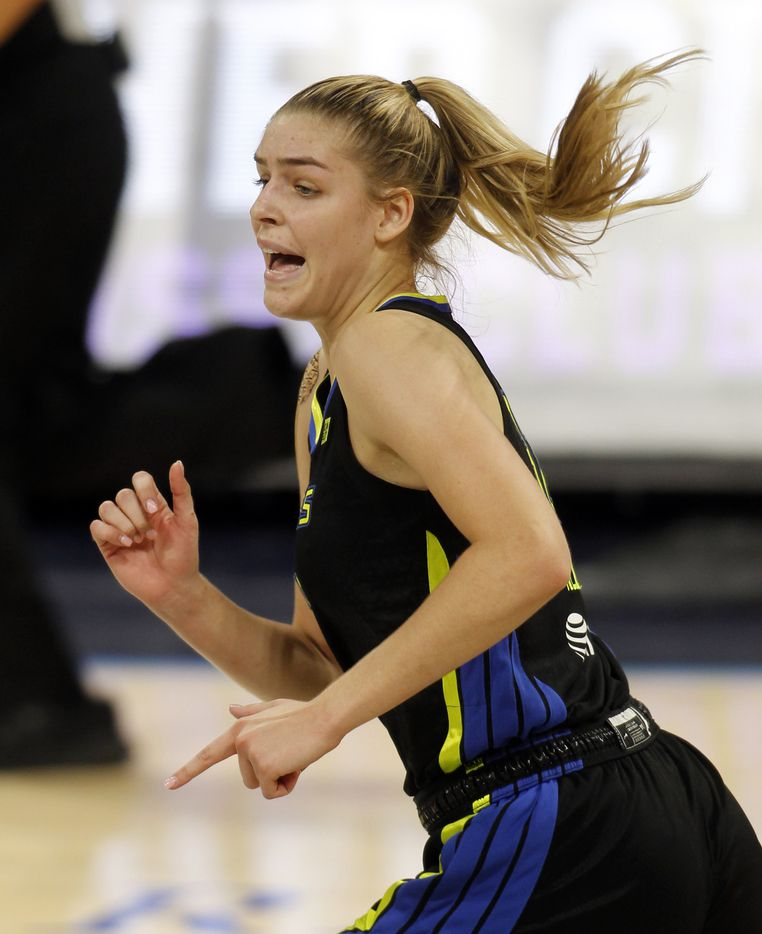 Dallas Wings center Bella Alarie (32) hustles back on defense during first half action against the Atlanta Dream. The two teams played their WNBA game at College Park Center on the campus of UT-Arlington on September 5, 2021. (Steve Hamm/ Special Contributor)