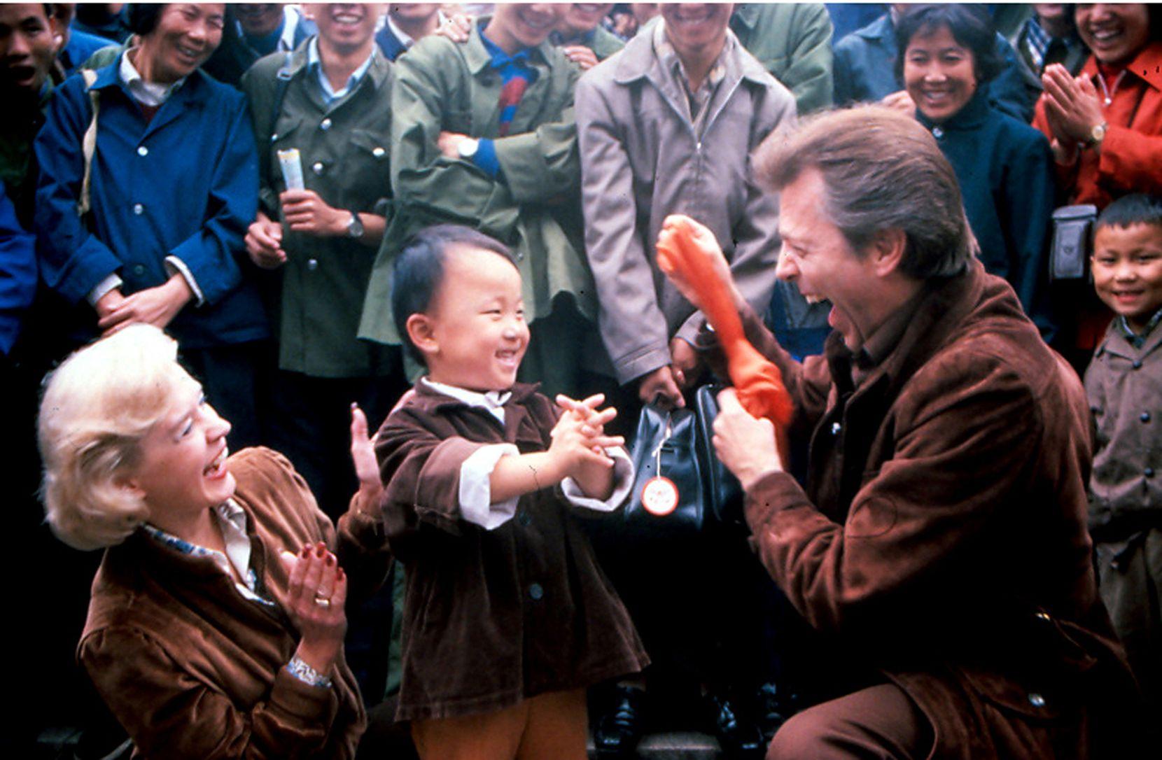 "Mark Wilson, wife Nani Darnell, ""Silkboy, China, 1980."""