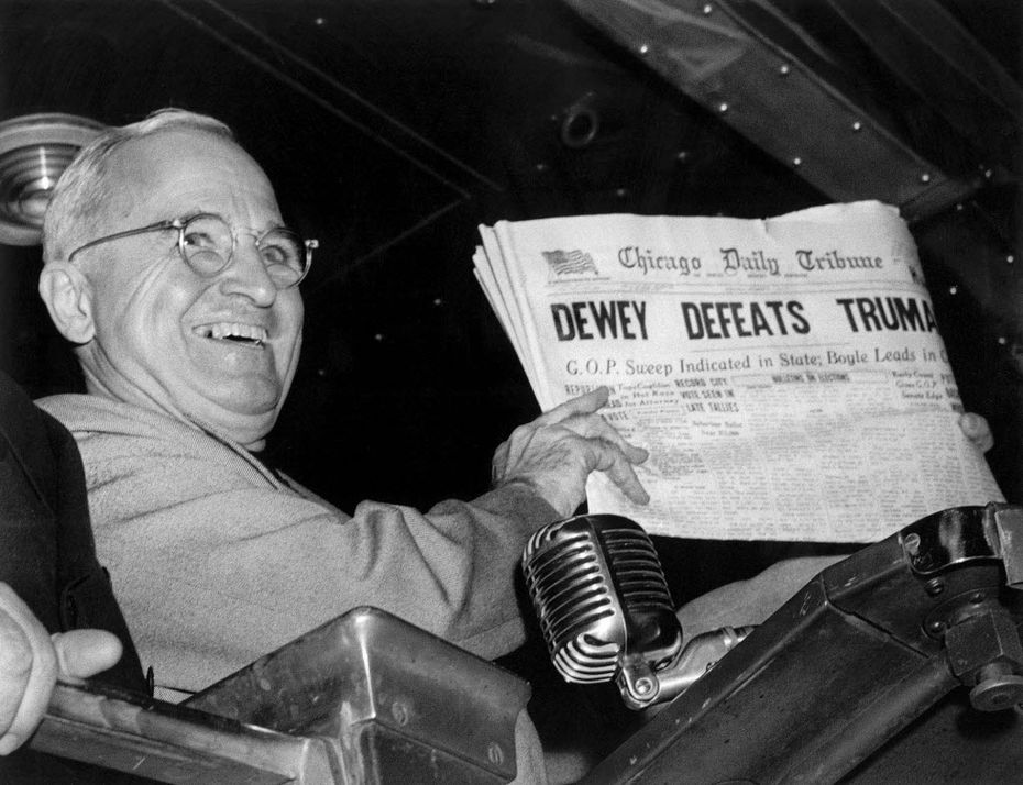 President Harry S. Truman triumphed over Thomas Dewey, despite what the Chicago Daily Tribune reported.