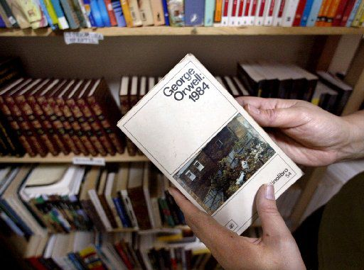 Gisela Delgado, who operated an independent library in one room in her home in 2002 in Havana, Cuba, says George Orwell's book, 1984, is one of the most popular and is almost always checked out.