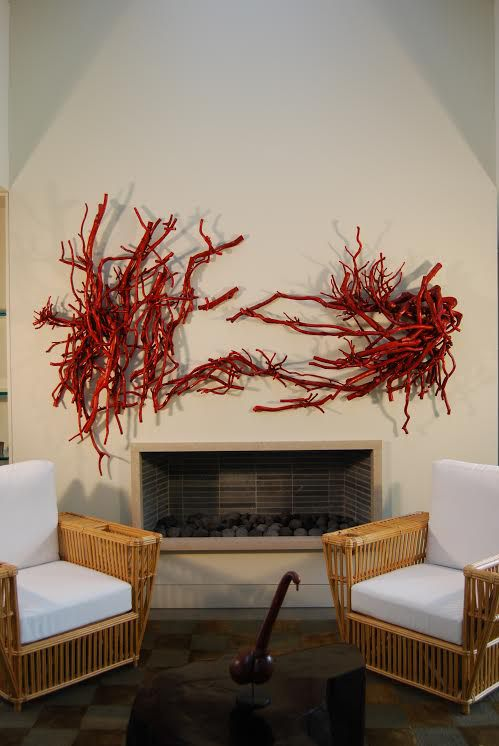 Song of Summer (2009), crepe myrtle, dye, wax. Private collection