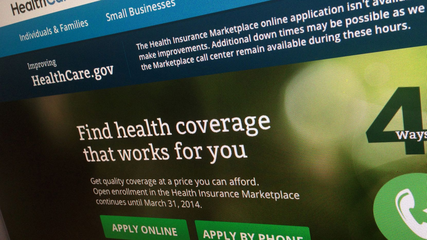 """Open enrollment on HealthCare.gov is scheduled to end on Tuesday, Dec. 15, and early turnout has been high. """"Don't wait a second longer,"""" said Jeffrey Ingrum of the Scott & White Health Plan. """"If you need coverage, you need to act on it."""""""