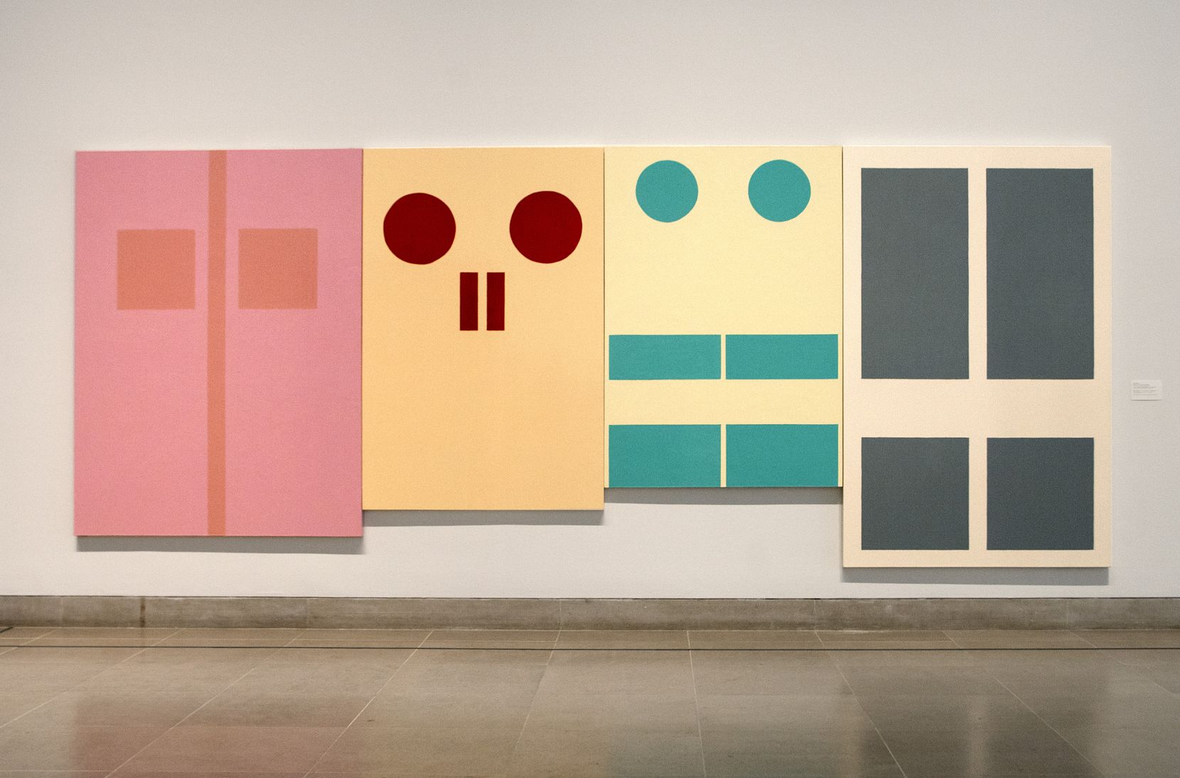"""Gary Hume's """"Four Doors I"""" is among 54 works featured in """"For a Dreamer of Houses"""" at the Dallas Museum of Art."""