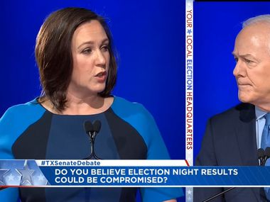 Both Republican U.S. Sen. John Cornyn and Democratic candidate MJ Hegar have raised in the neighborhood of $25 million since the start of 2019. That would've been record-setting just a few years ago, but no longer.