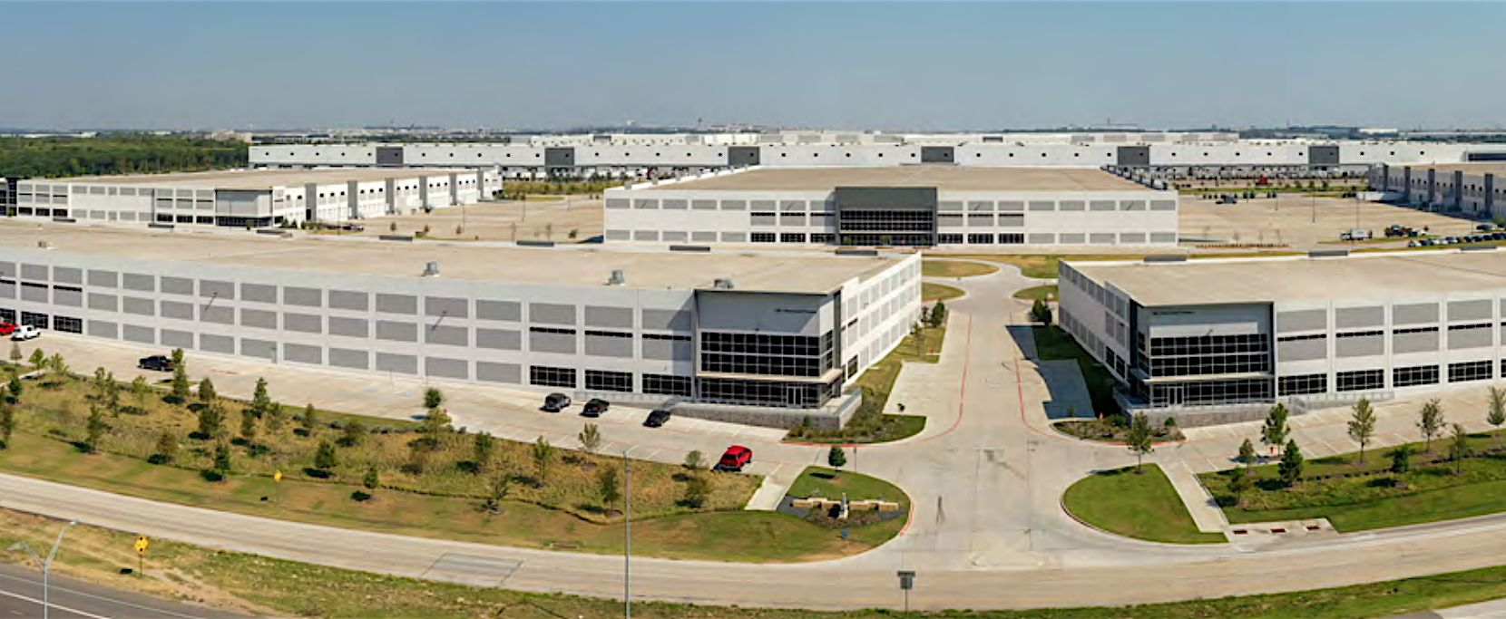 Tenants in the business park include Heritage Auctions, Samsung, Hello Fresh, Legendzways Distribution and Hussmann Corp.