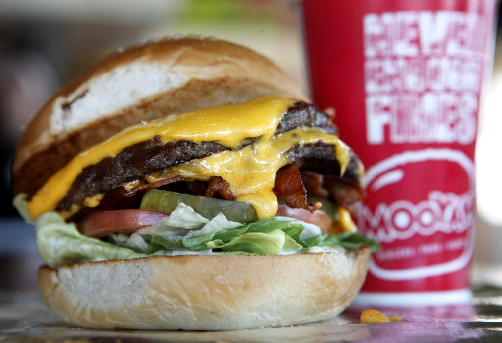 A Bacon Cheeseburger is pictured at Mooyah at Legacy and Independence Parkway in Plano, on January 16, 2013.