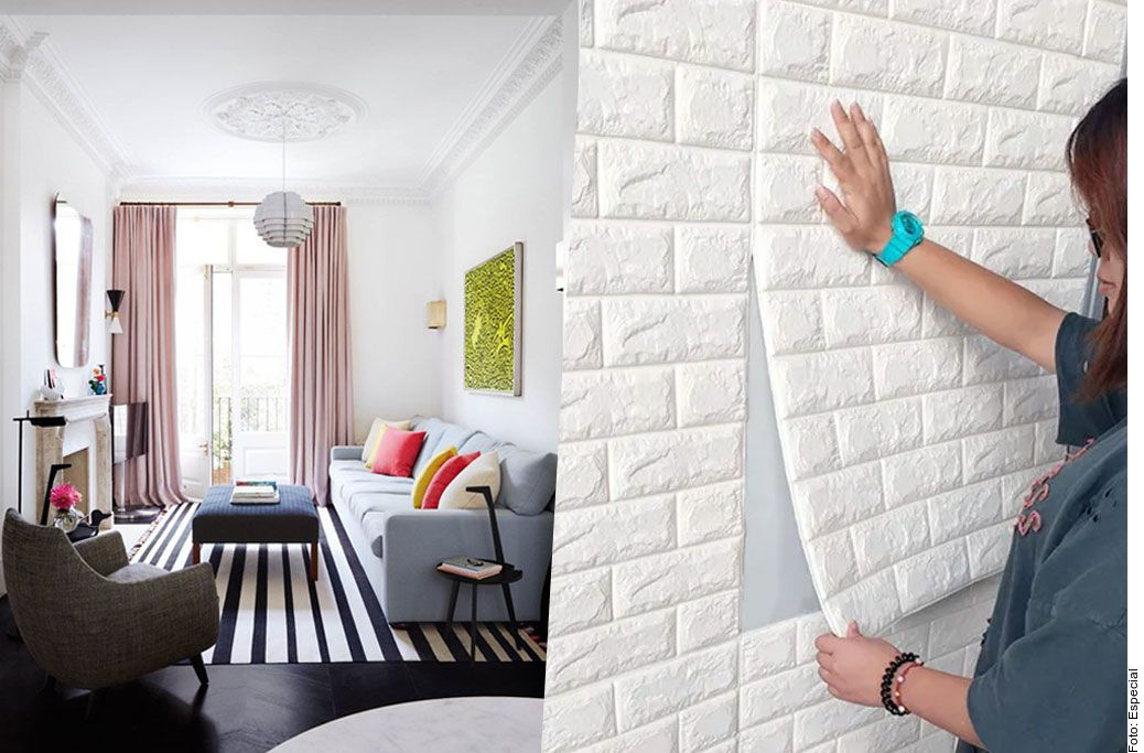 Cubrir las paredes con tapiz o vinilos 3D ayuda a aislar el ruido.