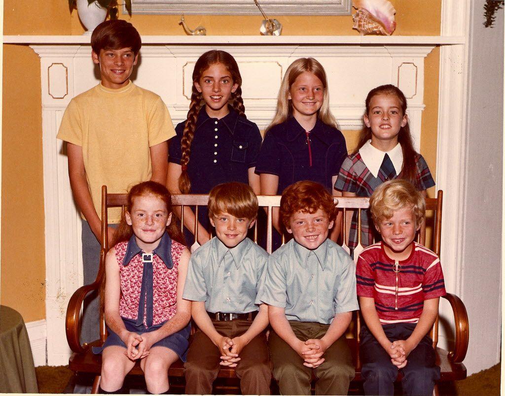 Photo of Garrett children (back row, from left): Jim III, Jane, Jennifer, Janine; (front row, from left): Jill, John, Jason, Judd. Photos courtesy of the Garrett family