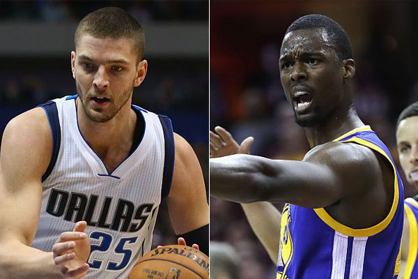 Chandler Parsons (left) and Harrison Barnes.