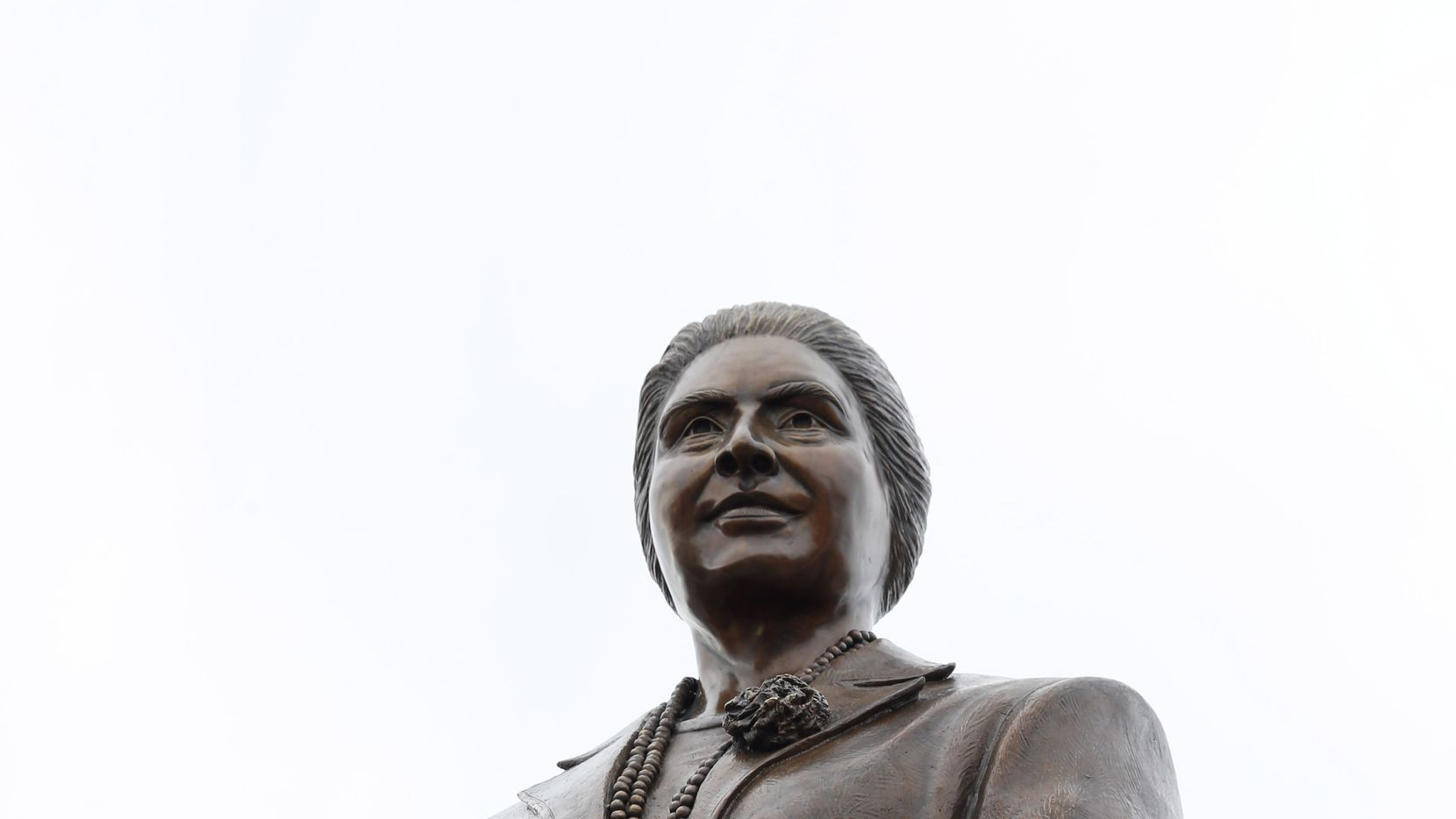 Adelfa B. Callejo statue by artist German Michel at a storage facility in Dallas on Wednesday, November 27, 2019. Adelfa Callejo was a fierce civil rights defender and lawyer who died six years ago.