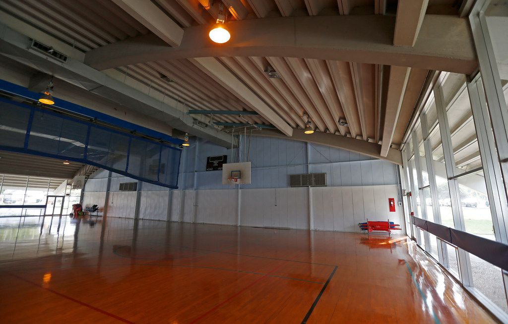 A basketball court inside Granger Recreation Center in Garland, Texas. Garland's Parks and Recreation plans to renovate the Granger Recreation Center.