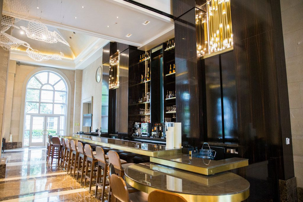 The bar in the lobby of Hotel Crescent Court also underwent a face lift.