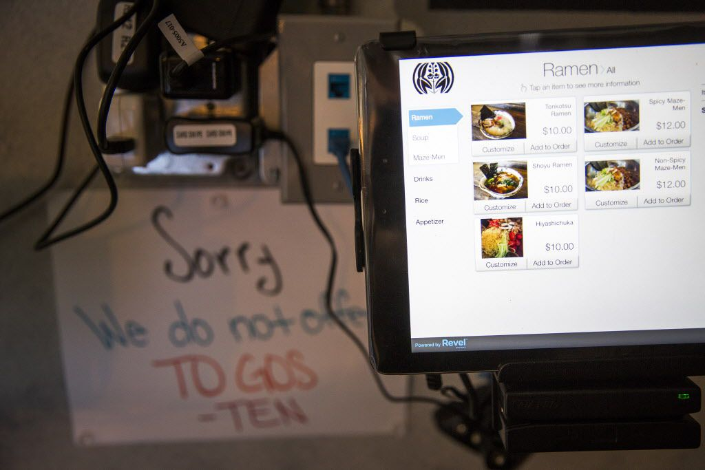 Customize your ramen as you order on a touch screen.